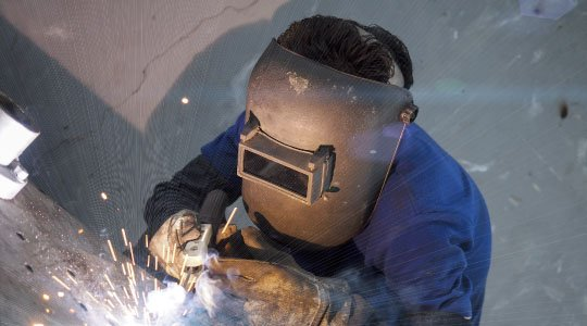 Expert welding in action